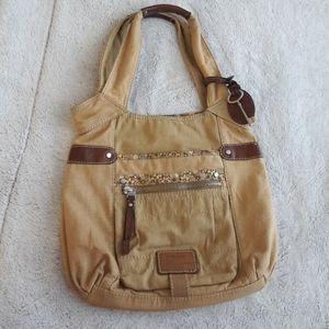 Canvas handbag by Fossil